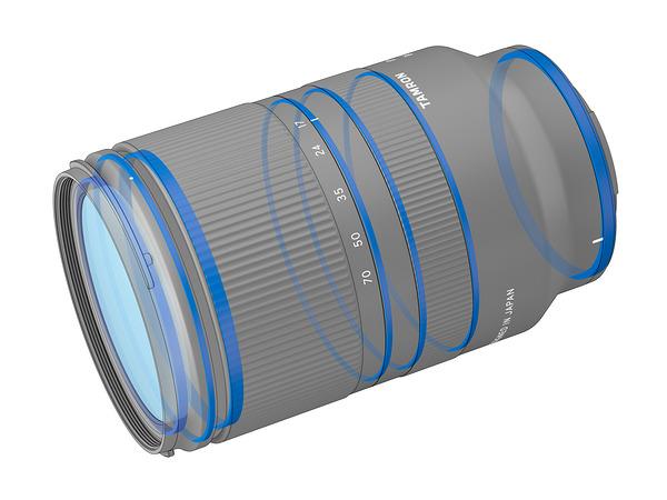 Уплотнители внутри объектива Tamron 17-70mm f/2.8 Di III-A VC RXD для защиты от влаги и пыли