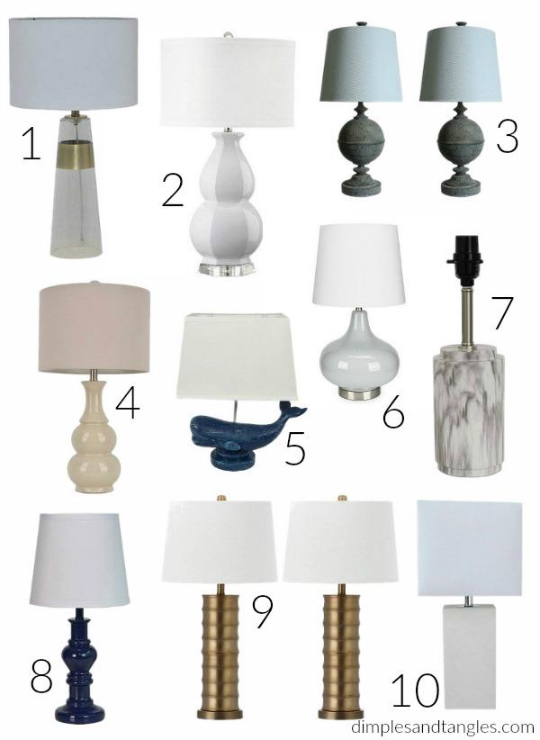 lamps, budget lighting, home decor, home accessories, walmart