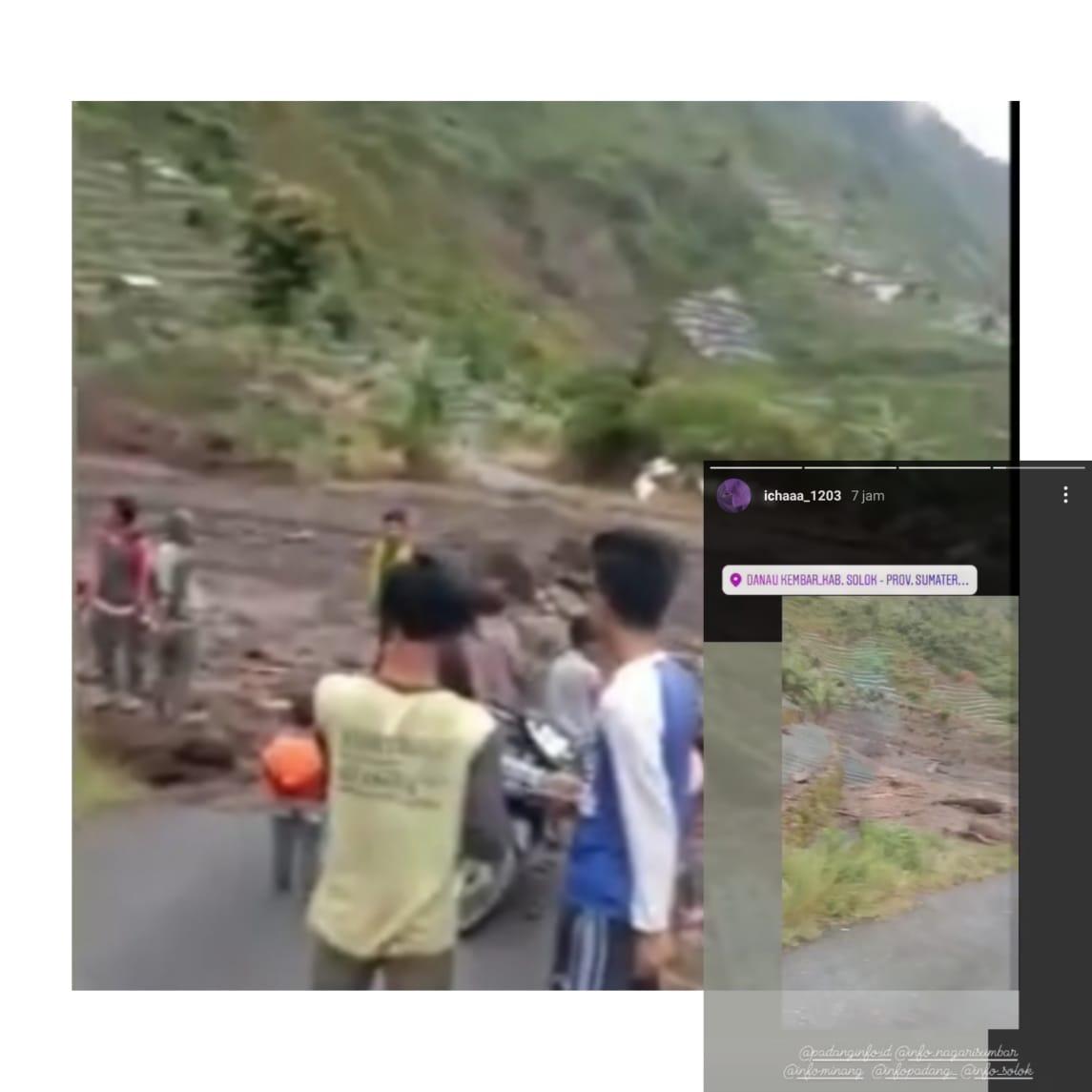 Hujan Deras Kabupaten Solok Jalanan Amblas dan Jembatan Ambruk