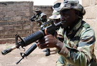 Fighting troops in Northern Mali