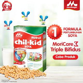 morinaga susu soya chil kid banner