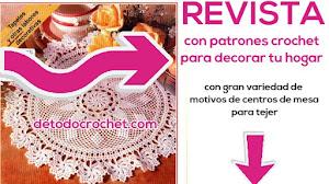 Revista de patrones de tapetes y centros de mesa crochet