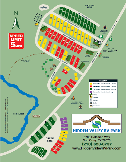 Map of Hidden Valley's Sites and amenities