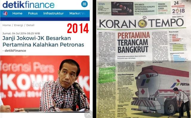 Pertamina Terancam Bangkrut? Mana Janji Jokowi Besarkan Pertamina Kalahkan Petronas?
