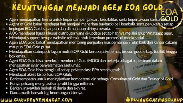 Keuntungan Menjadi Agen EOA GOLD