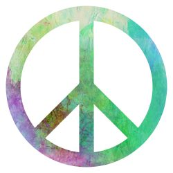 multi-colored peace sign