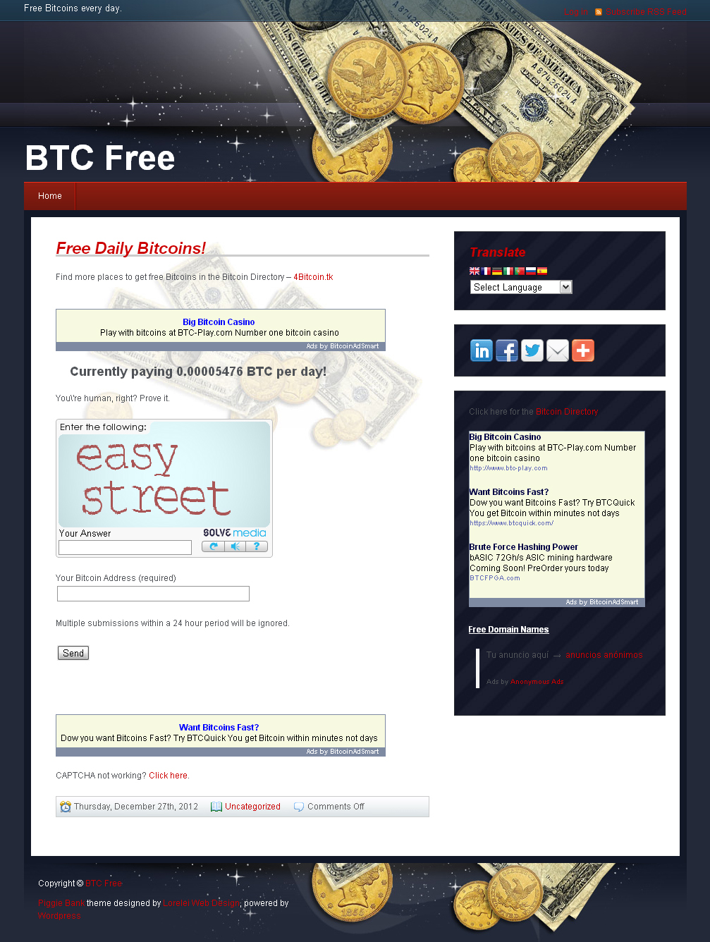 get one bitcoin free