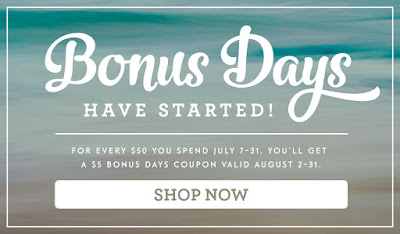 Bonus Days Stampin Up Coupon Code midnightcrafting