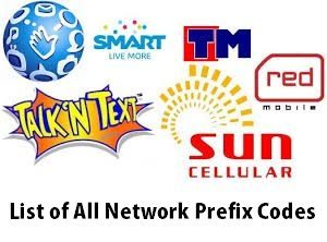 List Of Philippines Mobile Code Internet Provider Philippines