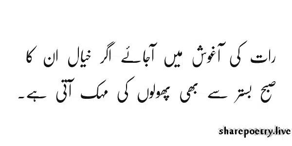 Raat Ki Agosh Mein-Yaad Shayari in Urdu