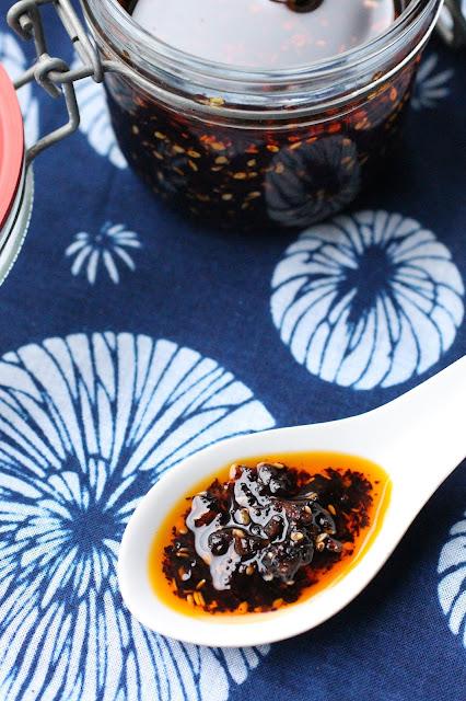 huile piquante chinoise japonaise maison