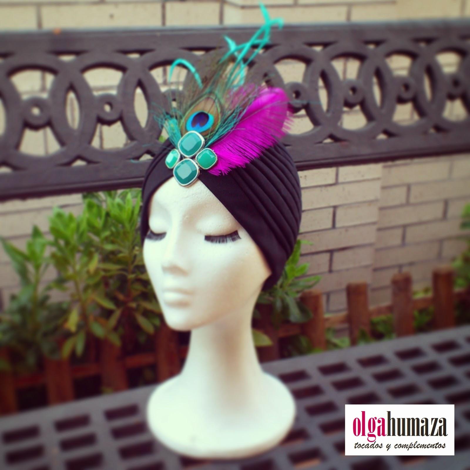 http://olgahumaza.blogspot.com.es/2015/02/b48-tocado-turbante-negro-y-adorno-de.html