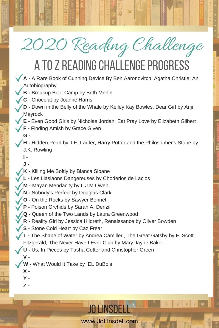 2020 Challenges November Update: the A to Z Reading Challenge