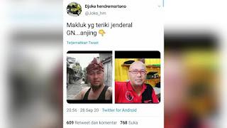 Panglima Gatot Diteriaki Anj*ng, Netizen Sebar Foto Pelaku, Ternyata Pendukung PDIP