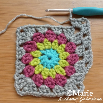 Working a crochet pattern