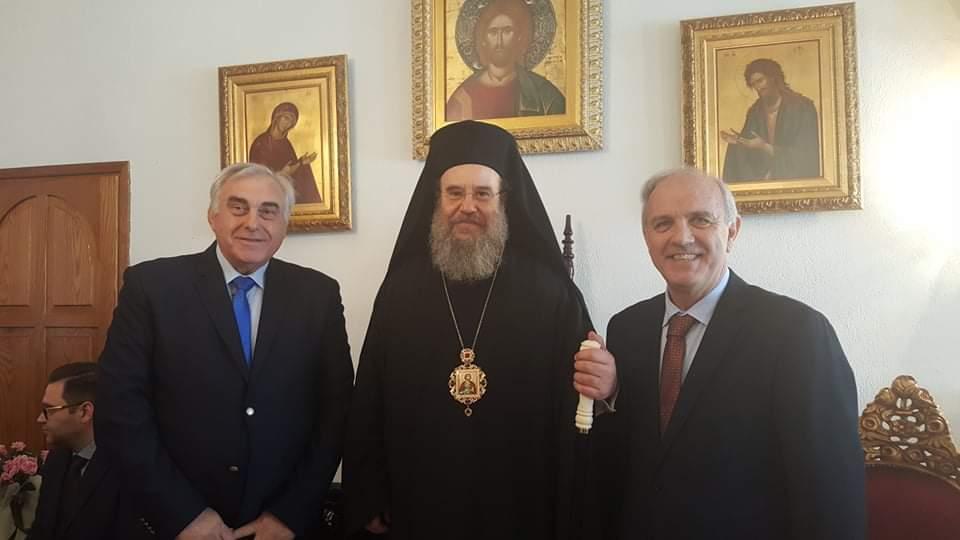 Ευχές στον Μητροπολίτη Ιερισσού, Αγ. Όρους και Αρδαμερίου από τον Παγχαλκιδικό Σύλλογο 《Ο ΑΡΙΣΤΟΤΈΛΗΣ 》