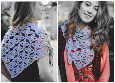 Pashmina estrellas a crochet estilo marroquí