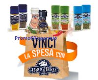 Logo Vinci la spesa con Drogheria : 108 buoni spesa da 50€ in palio