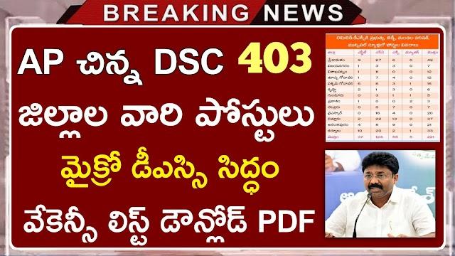 AP Limited DSC Vacancies List 2020 | AP DSC Vacancies List | AP DSC SGT vacancies List