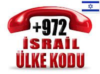 +972 İsrail ülke telefon kodu