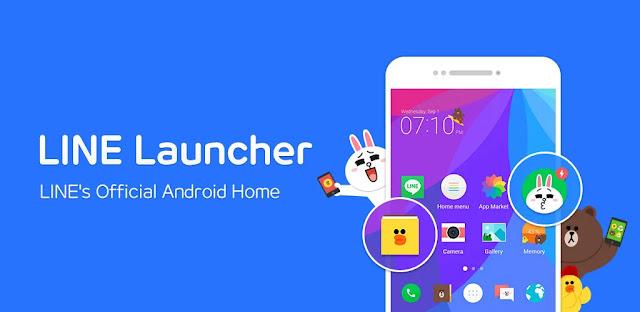تحميل تطبيق LINE Launcher  مشغل جميل وسهل الاستخدام لنظام الاندرويد