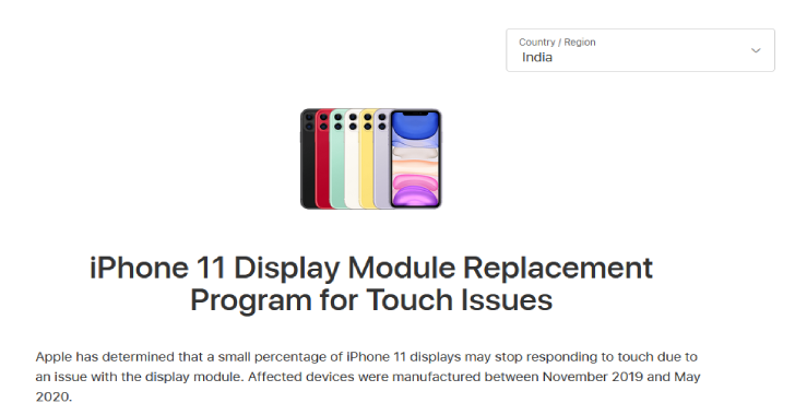 Apple Is Offering A Free iPhone 11 Replacement Program With Display Problems
