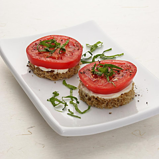 Tomato And Basil Finger Sandwiches Recipe | Mediterranean Diet