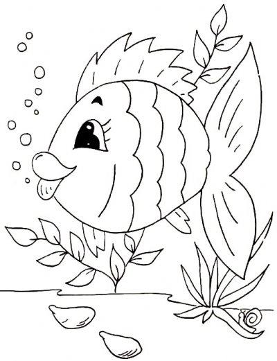 Banco De Atividades Educacao Infantil Vamos Colorir O Peixinho