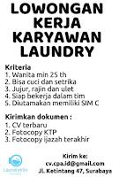 Bursa Kerja Surabaya di LaundryKlin Februari 2021