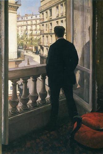 Jeune homme à la fenêtre, Gustave Caillebotte (1875)