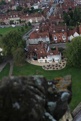 תצפית מגג המגדל - קתדרלת סליסבורי