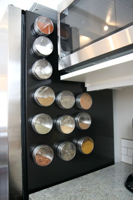 magnetic spice rack for fridge
