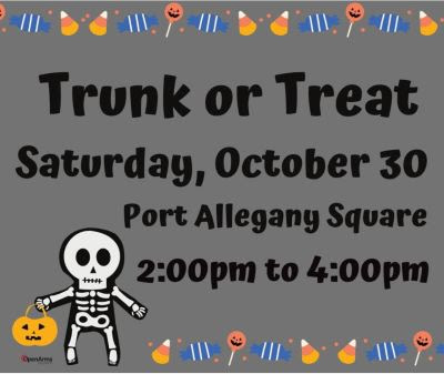 10-30 Trunk Or Treat At The Port Allegany Square