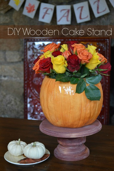 How To Make A DIY Wooden Cake Stand