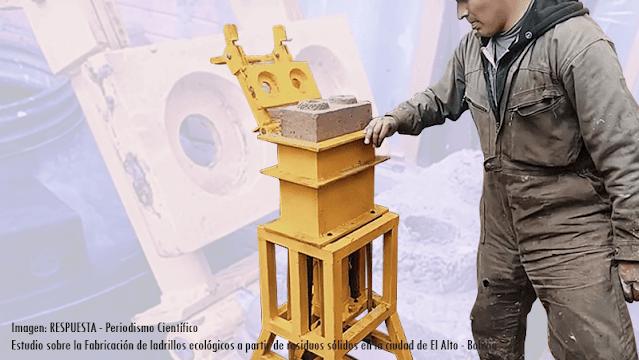 Producción de ladrillos ecológicos en la ciudad de El Alto