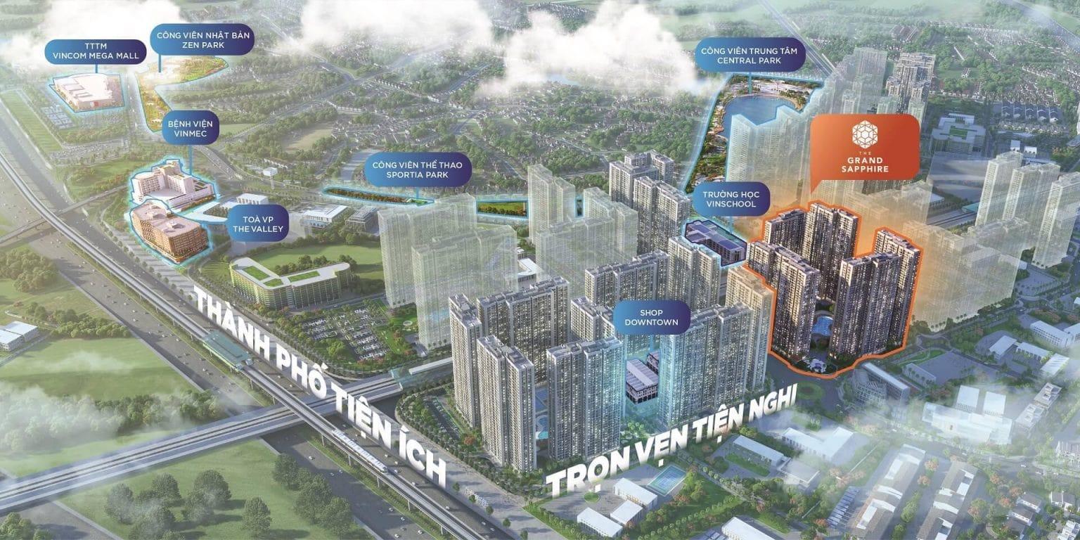 vi tri grand shapphire vinhomes smart city