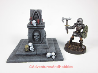 Evil shrine for 25-28mm scale table top war games - front view.