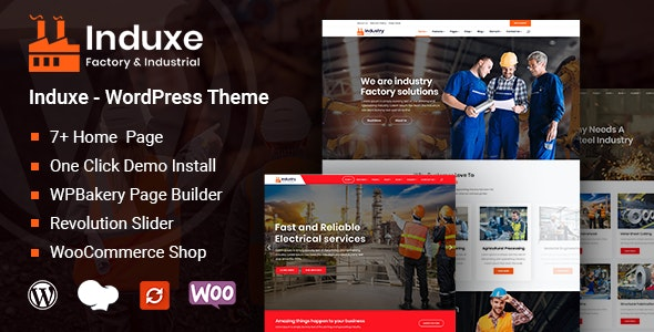 Multipurpose Factory and Industry WordPress Themes