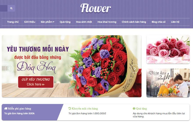 [Share] - Giao diện blog bán hoa