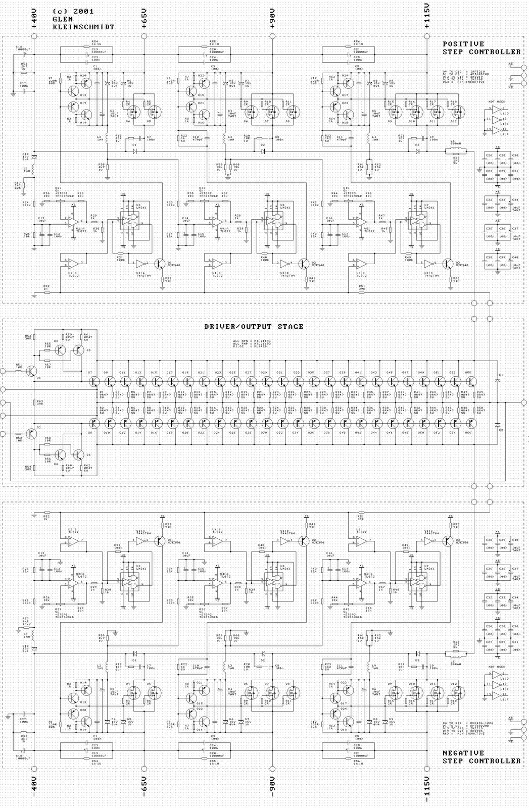 20 000 Watt Audio Amplifier  Scheme Collections