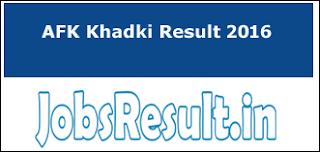 AFK Khadki Result 2016