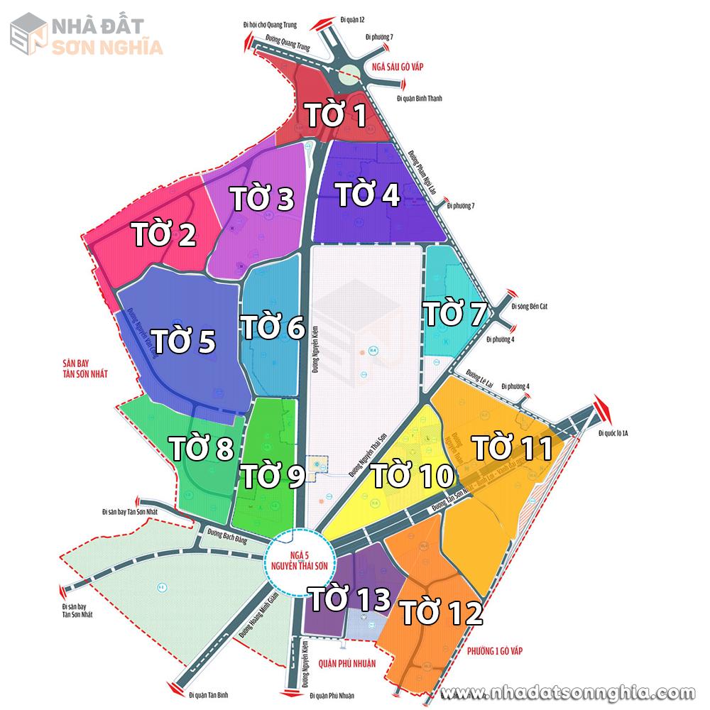 Bản đồ lộ giới hẻm phường 3 quận Gò Vấp