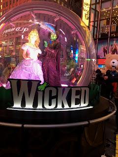 Wicked Times Square Broadway Snow Globe New York City