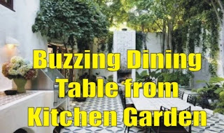 Buzzing Dining Table from Kitchen Garden