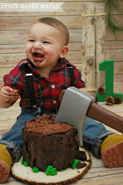 Craft Meets World Lumberjack Cake Smash