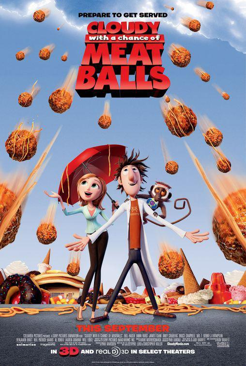 Download Cloudy with a Chance of Meatballs (2009) Full Movie in Hindi Dual Audio BluRay 720p [850MB]