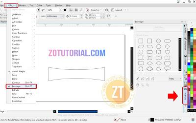 Langkah 1 Membuat Text/Tulisan Mengikuti Bentuk Objek di CorelDraw