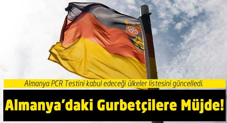 Almanya karantina var mı PCR testi