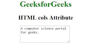 penggunaan atribut cols pada html