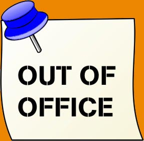 office door out of office door sign template